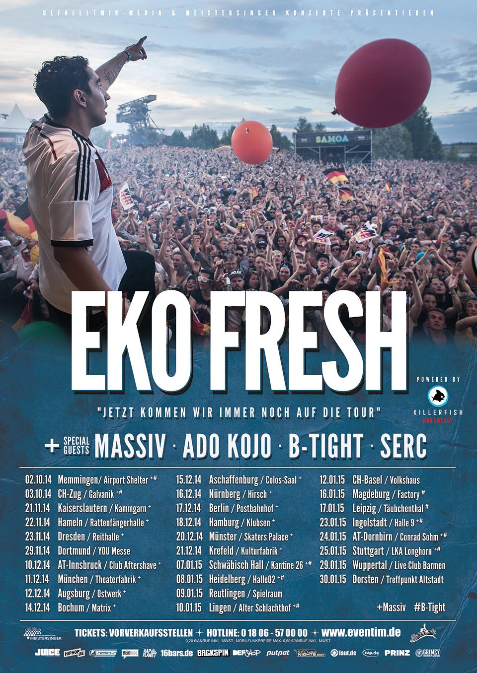 Eko Fresh Tourplakat