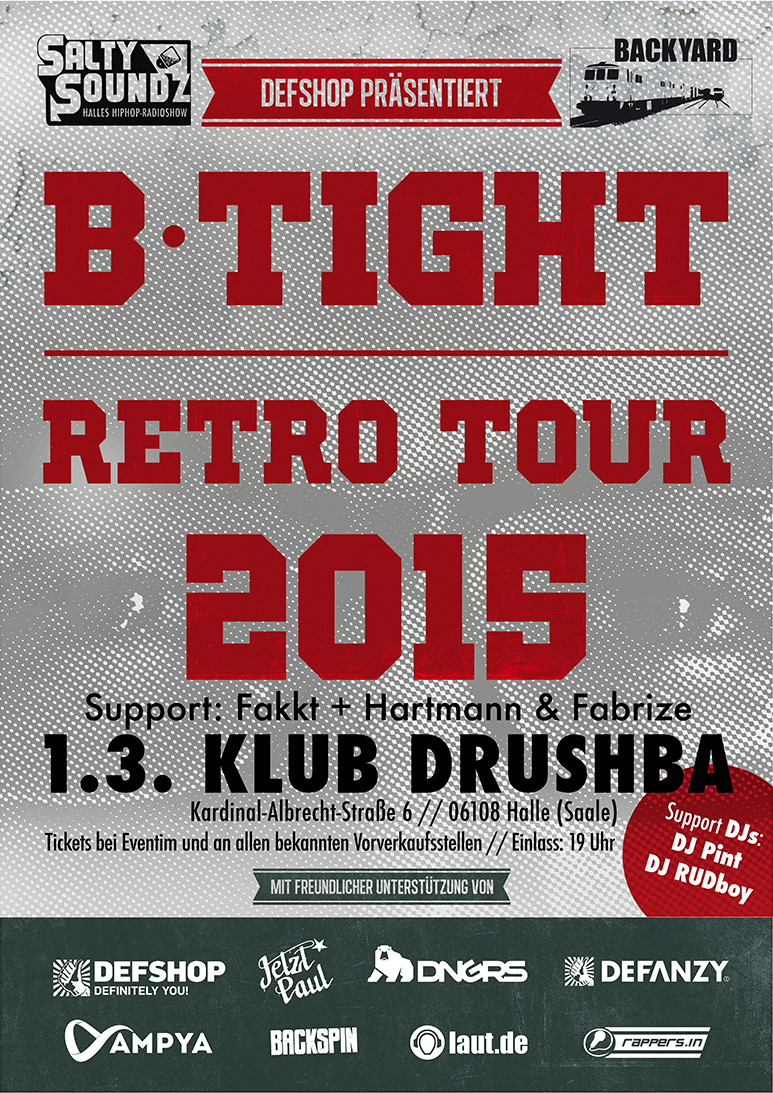 B-Tight Retro Tourplakat Halle Drushba