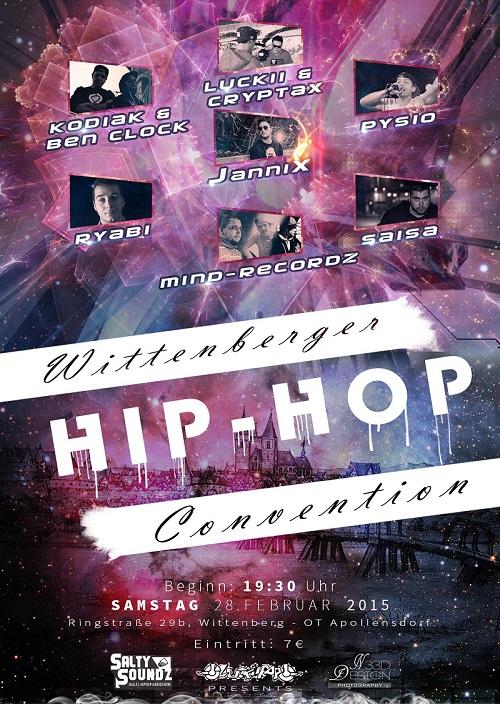 Onlineflyer Wittenberger Hip-Hop Convention
