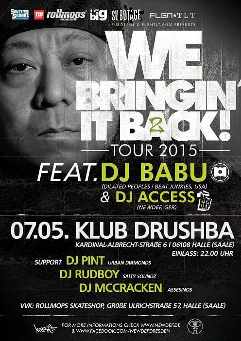 DJ Babu Halle Drushba Flyer
