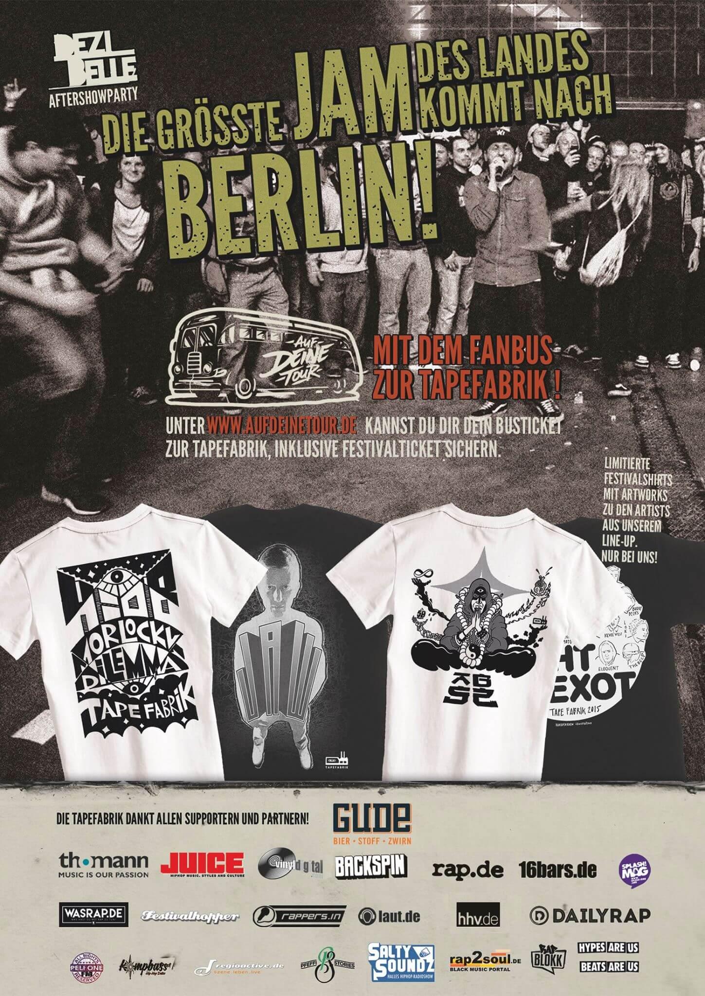 Tapefabrik Berlin Rückseite