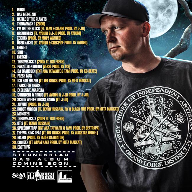 Tracklist-Tatzeit